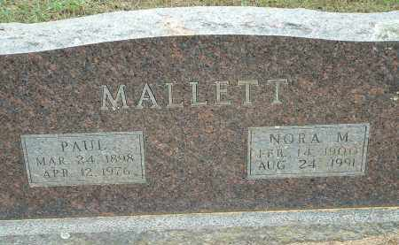 MALLETT, NORA M. - Conway County, Arkansas | NORA M. MALLETT - Arkansas Gravestone Photos