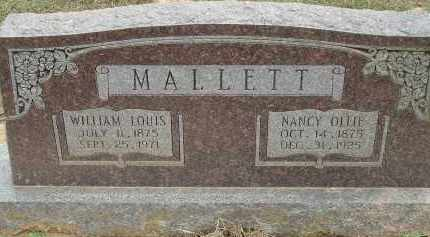 KENNAMER MALLETT, NANCY OLLIE - Conway County, Arkansas | NANCY OLLIE KENNAMER MALLETT - Arkansas Gravestone Photos