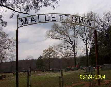 *MALLETTOWN CEMETERY SIGN,  - Conway County, Arkansas |  *MALLETTOWN CEMETERY SIGN - Arkansas Gravestone Photos