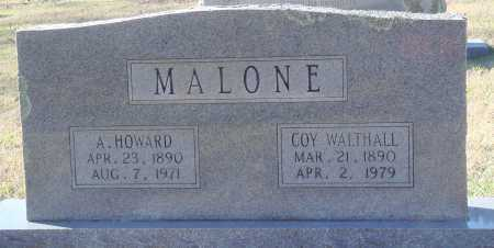 MALONE, A. HOWARD - Conway County, Arkansas | A. HOWARD MALONE - Arkansas Gravestone Photos