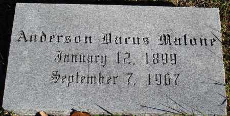 MALONE, ANDERSON DACUS - Conway County, Arkansas | ANDERSON DACUS MALONE - Arkansas Gravestone Photos