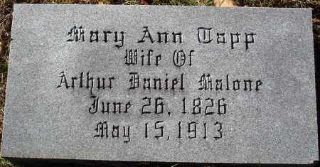 MALONE, MARY ANN - Conway County, Arkansas | MARY ANN MALONE - Arkansas Gravestone Photos