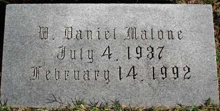 MALONE, W. DANIEL - Conway County, Arkansas | W. DANIEL MALONE - Arkansas Gravestone Photos