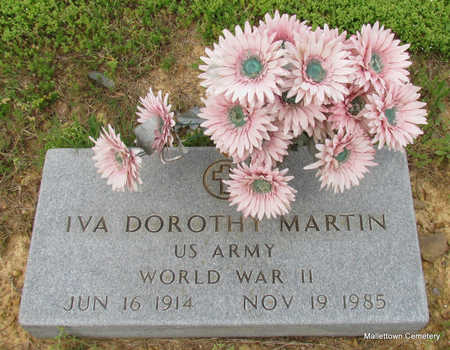 MARTIN  (VETERAN WWII), IVA DOROTHY - Conway County, Arkansas | IVA DOROTHY MARTIN  (VETERAN WWII) - Arkansas Gravestone Photos