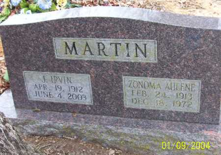 JONES MARTIN, ZONOMA AULENE - Conway County, Arkansas | ZONOMA AULENE JONES MARTIN - Arkansas Gravestone Photos