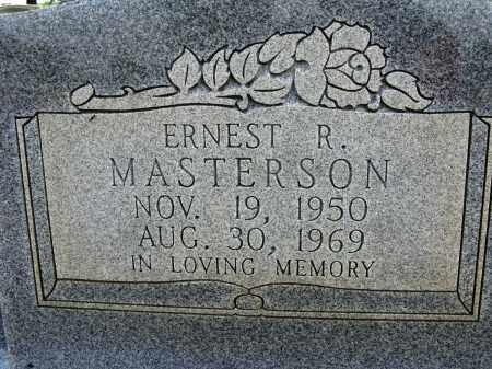 MASTERSON, ERNEST R - Conway County, Arkansas | ERNEST R MASTERSON - Arkansas Gravestone Photos
