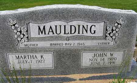 MAULDING, JOHN W - Conway County, Arkansas | JOHN W MAULDING - Arkansas Gravestone Photos