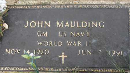 MAULDING (VETERAN WWII), JOHN - Conway County, Arkansas | JOHN MAULDING (VETERAN WWII) - Arkansas Gravestone Photos