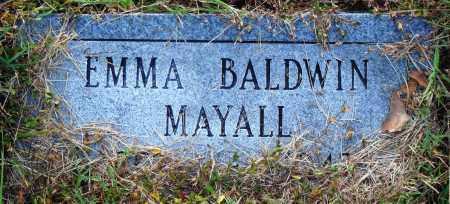 BALDWIN MAYALL, EMMA - Conway County, Arkansas | EMMA BALDWIN MAYALL - Arkansas Gravestone Photos