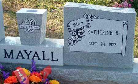 MAYALL, KATHERINE B. - Conway County, Arkansas | KATHERINE B. MAYALL - Arkansas Gravestone Photos