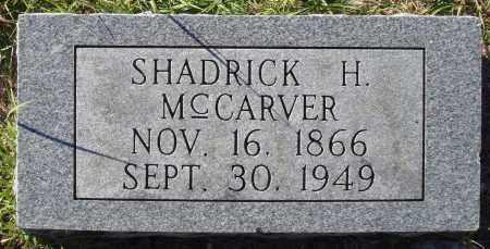 MCCARVER, SHADRICK H. - Conway County, Arkansas | SHADRICK H. MCCARVER - Arkansas Gravestone Photos