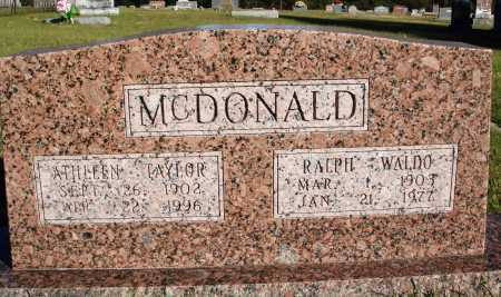 MCDONALD, RALPH WALDO - Conway County, Arkansas | RALPH WALDO MCDONALD - Arkansas Gravestone Photos