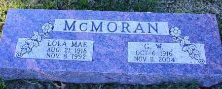 MCMORAN, G. W. - Conway County, Arkansas | G. W. MCMORAN - Arkansas Gravestone Photos