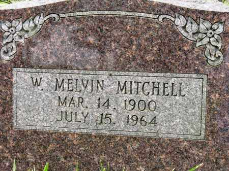 MITCHELL, W. MELVIN - Conway County, Arkansas | W. MELVIN MITCHELL - Arkansas Gravestone Photos