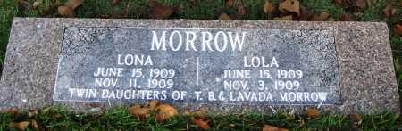 MORROW, LOLA - Conway County, Arkansas | LOLA MORROW - Arkansas Gravestone Photos