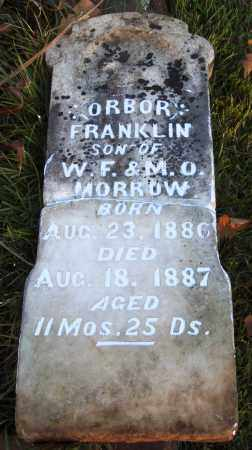 MORROW, ORBOR FRANKLIN - Conway County, Arkansas | ORBOR FRANKLIN MORROW - Arkansas Gravestone Photos