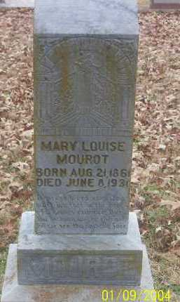 MOUROT, MARY LOUISE - Conway County, Arkansas | MARY LOUISE MOUROT - Arkansas Gravestone Photos