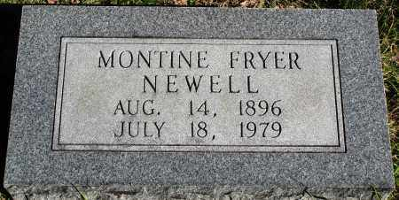 FRYER NEWELL, MONTINE - Conway County, Arkansas | MONTINE FRYER NEWELL - Arkansas Gravestone Photos