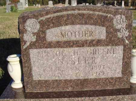 GREENE NISLER, MINNIE H. - Conway County, Arkansas | MINNIE H. GREENE NISLER - Arkansas Gravestone Photos