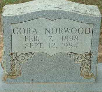 NORWOOD, CORA AGNES - Conway County, Arkansas | CORA AGNES NORWOOD - Arkansas Gravestone Photos