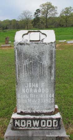 NORWOOD, JOHN F. - Conway County, Arkansas   JOHN F. NORWOOD - Arkansas Gravestone Photos