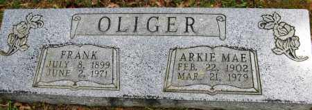 OLIGER, ARKIE MAE - Conway County, Arkansas | ARKIE MAE OLIGER - Arkansas Gravestone Photos