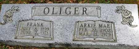 OLIGER, FRANK - Conway County, Arkansas | FRANK OLIGER - Arkansas Gravestone Photos