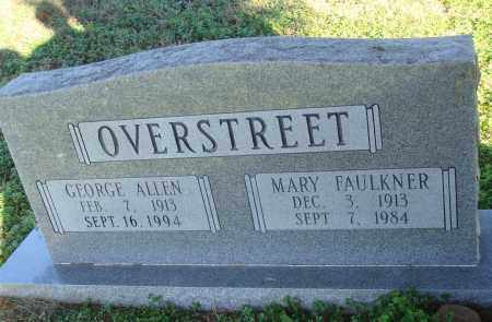OVERSTREET, GEORGE ALLEN - Conway County, Arkansas | GEORGE ALLEN OVERSTREET - Arkansas Gravestone Photos