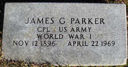 PARKER (VETERAN WWI), JAMES G - Conway County, Arkansas   JAMES G PARKER (VETERAN WWI) - Arkansas Gravestone Photos