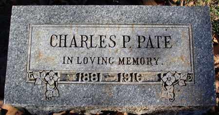 PATE, CHARLES - Conway County, Arkansas | CHARLES PATE - Arkansas Gravestone Photos