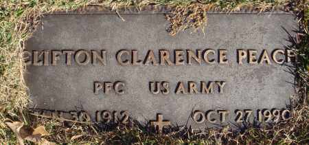 PEACH  (VETERAN), CLIFTON CLARENCE - Conway County, Arkansas | CLIFTON CLARENCE PEACH  (VETERAN) - Arkansas Gravestone Photos