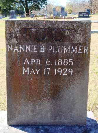 PLUMMER, NANNIE B. - Conway County, Arkansas | NANNIE B. PLUMMER - Arkansas Gravestone Photos