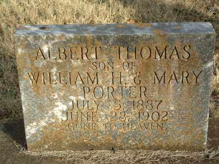 PORTER, ALBERT THOMAS - Conway County, Arkansas | ALBERT THOMAS PORTER - Arkansas Gravestone Photos