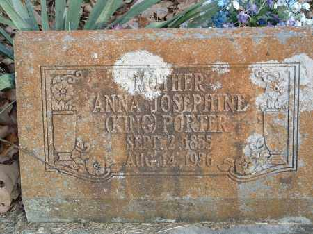 KING PORTER, ANNA JOSEPHINE - Conway County, Arkansas | ANNA JOSEPHINE KING PORTER - Arkansas Gravestone Photos