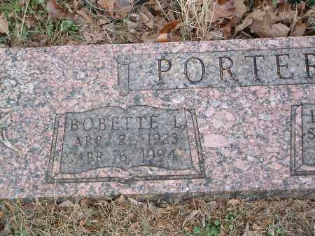 PORTER, BOBETTE L. - Conway County, Arkansas | BOBETTE L. PORTER - Arkansas Gravestone Photos
