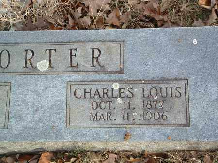 PORTER, CHARLES LOUIS - Conway County, Arkansas | CHARLES LOUIS PORTER - Arkansas Gravestone Photos