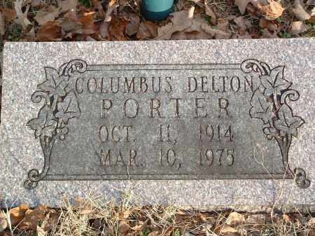 PORTER, COLUMBUS DELTON - Conway County, Arkansas | COLUMBUS DELTON PORTER - Arkansas Gravestone Photos