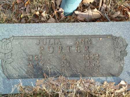 PORTER, JULIA ANN - Conway County, Arkansas | JULIA ANN PORTER - Arkansas Gravestone Photos