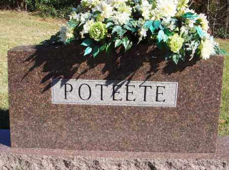 POTEETE, FAMILY HEADSTONE - Conway County, Arkansas | FAMILY HEADSTONE POTEETE - Arkansas Gravestone Photos