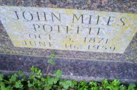 POTEETE, JOHN MILES - Conway County, Arkansas | JOHN MILES POTEETE - Arkansas Gravestone Photos