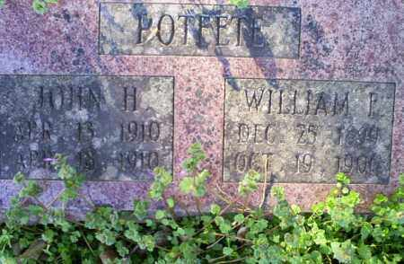 POTEETE, WILLIAM F. - Conway County, Arkansas | WILLIAM F. POTEETE - Arkansas Gravestone Photos