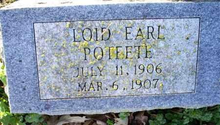 POTEETE, LOID EARL - Conway County, Arkansas | LOID EARL POTEETE - Arkansas Gravestone Photos