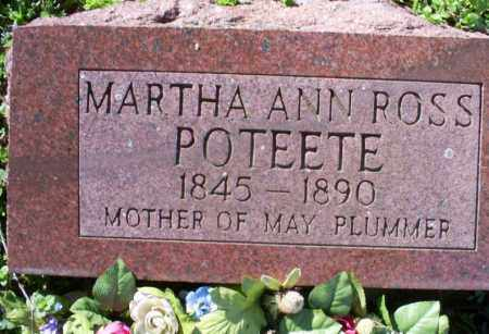 ROSS POTEETE, MARTHA ANN - Conway County, Arkansas | MARTHA ANN ROSS POTEETE - Arkansas Gravestone Photos