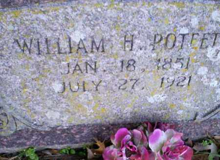 POTEETE, WILLIAM H. - Conway County, Arkansas | WILLIAM H. POTEETE - Arkansas Gravestone Photos