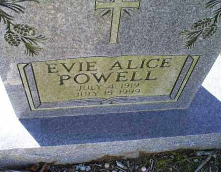 POWELL, EVIE ALICE - Conway County, Arkansas | EVIE ALICE POWELL - Arkansas Gravestone Photos