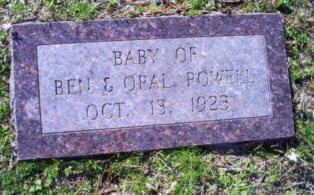 POWELL, INFANT - Conway County, Arkansas | INFANT POWELL - Arkansas Gravestone Photos