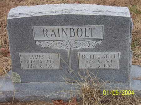 RAINBOLT, JAMES I. - Conway County, Arkansas | JAMES I. RAINBOLT - Arkansas Gravestone Photos
