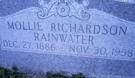 RICHARDSON RAINWATER, MOLLIE - Conway County, Arkansas | MOLLIE RICHARDSON RAINWATER - Arkansas Gravestone Photos