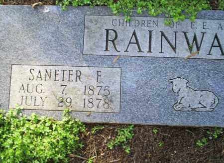 RAINWATER, SANETER E. - Conway County, Arkansas | SANETER E. RAINWATER - Arkansas Gravestone Photos