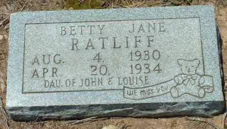 RATLIFF, BETTY JANE - Conway County, Arkansas | BETTY JANE RATLIFF - Arkansas Gravestone Photos